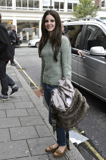 LONDON, ENGLAND - NOVEMBER 13: Lana Del Rey sighted arriving at BBC Radio One on November 13, 2012 in London, England. (Photo by Ben Pruchnie/FilmMagic)